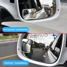 2Pcs Adjustment Convex Glass Blind Spot Mirror Rectangle Safety View Accessories