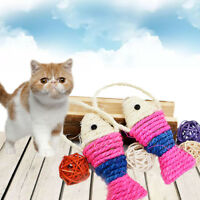 Pet Cat Kitten Fish Shape Sisal Scratching Post Scratch Board Play Fun Toy New.
