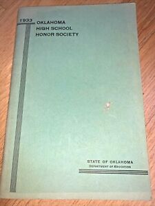 1933 OKLAHOMA HIGH SCHOOL HONOR SOCIETY 90 pages - ALL Oklahoma HIGH SCHOOLS