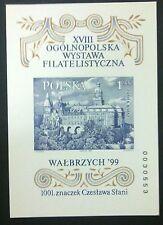 POLAND STAMPS MNH 1Fibl125A Sc3476 Mibl136B block-Exhibit.Walbrzych, 1999,Slania