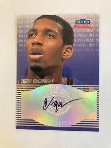 1999-00 Fleer Focus Tracy McGrady Fresh Ink Autograph Auto Rare Future HOF