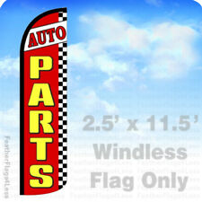 Auto Parts - Windless Swooper Feather Flag 2.5x11.5' Banner Sign - rz
