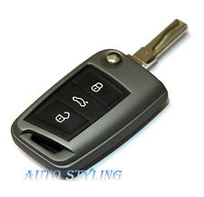 Carbon Grey Key Cover For VW Seat Skoda Case Remote Fob Protector Volkswagen  40