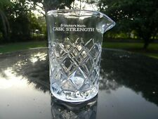 "Maker'S Mark Cask Strength Glass Pitcher 5.5"" With Spout Diamond Design New"
