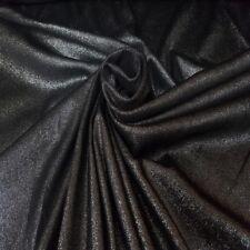 Stoff Meterware Lederimitat %7c silber - schwarz Glanz-Beschichtung Ros- gold Top