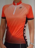 Jaggad Cycling Bike Jersey Ladies Womens Unisex Orange Black SLIM FIT #132