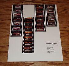 1992 BMW Full Line Sales Brochure 325is 850i 750i M5 92