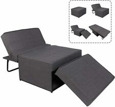 4-in-1 Multifunctional Sofa Bed, Sleeper Couch Pull Out Lounger Chair Ottoman