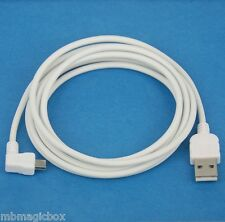 3M 10ft CHARGER ONLY Left Angle USB Cable WHITE 4 BlackBerry PRIV LEAP Passport