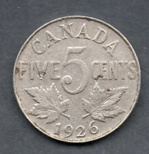 CANADA CANADIAN 5 cents 1926 King George V Rare coin