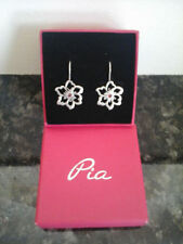 Sterling Silver PIA Precious Metal Earrings without Stones