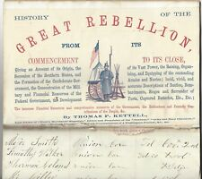 Civil War History Salesman's Journal With Battle Images And Commendations