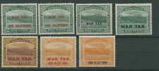 Dominica War Tax Stamps 1916-20 SG 55-60 inc. 55a Small 'One'