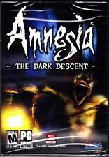 Amnesia: The Dark Descent PC Rare Find Horror Game New Sealed Free Shipping