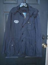 NWT NEW MENS Polo Ralph Lauren Hooded Trench Coat Jacket Nylon NAVY BLUE MEDIUM
