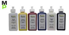 Airbrush Grundfarben Set, 5 Acrylfarben + Verdünnung, Basisfarben Set, 6x100ml