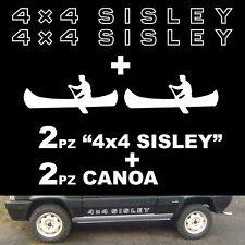 Coppia Adesivi Fiat Panda 4x4 Sisley + 2 canoe + omaggio fedeli ad originali