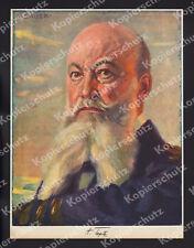 Karl Bauer Farbporträt Grossadmiral Tirpitz Kaiserliche Marine 1. Weltkrieg 1915