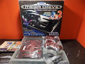 Sega Megadrive Console Sonic 2 Mega CD Box Variant Complete VGC PAL VV056