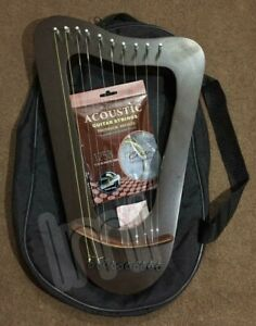 Lyre Harp Curved Design 10 Strings With Tuning Key, Bag & Extra Strings Set