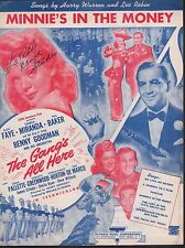 Minnie's in the Money 1943 Alice Faye The Gang's All Here Sheet Music