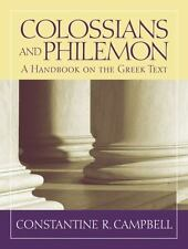 Colossians and Philemon: A Handbook on the Greek Text (Baylor Handbook on the Gr
