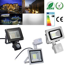 Waterproof 10/20/30W LED Flood Light PIR Motion Sensor Outdoor Spotlight Lamp