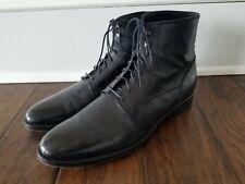 ANTONIO MAURIZI Black Vero Cuoio Leather Ankle Boots IT 45 US 11 $525