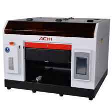 ACHI A3 UV Printer 6Color for Bottles Can Cylindrical Signs 3D Rotation Embossed
