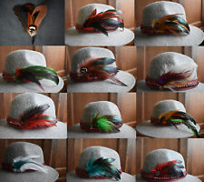 Cowboy Feathers for STETSON & RESISTOL Hats, Fedora Derby Woman Men Unisex