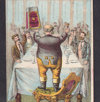 Chicago 1800's Wilson Meat Packing Corned Beef Tin Comic Ad Victorian Trade Card