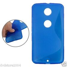 Custodia Cover Case WAVE BLU S LINE Per Motorola Nexus 6 XT1100 XT1103 TPU