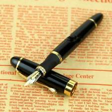 JINHAO X450 Royal Black 18k Gold Plated Trim Fountain Pen Fine Nib Stationery