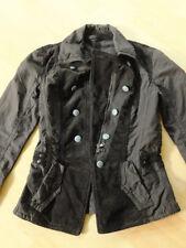 Marc Cain Blazer Jacke schwarz-braun Uniform Schößchen tailliert S 36/38 N2 Cord
