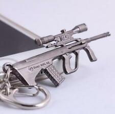 Cross Fire Gun Pendant Key ring chain Cross Fire AUG A1 Weapon Model Metal