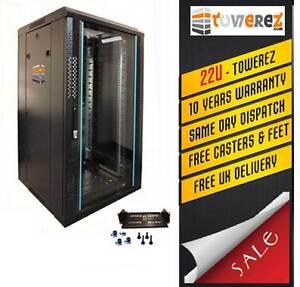 Server Rack 22U ( 1.2 Mt H ) serverrack  - 600 W x 600 D Glass Door Rack cabinet
