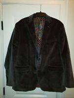 ROBERT GRAHAM 2 Button Blazer Jacket Sports Coat Velvet - Size 44R - Beautiful