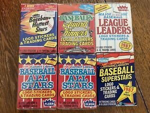 Lot Of (6) 1987 FLEER BASEBALL MLB Cards LImited Boxed Sets Hottest Stars Sealed