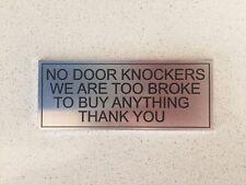 New Aluminum Door Sign No Door Knockers Sign AUS Stock