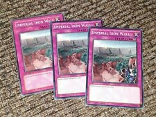 YUGIOH IMPERIAL IRON WALL COMMON MIXED EDITIONS X3 PLAYSET