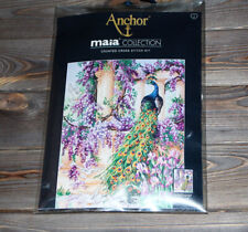 Anchor Maia Counted Cross Stitch Kit The Peacock 5678000-01027
