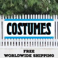COSTUMES Advertising Vinyl Banner Flag Sign Halloween Masks Candy Holiday Store