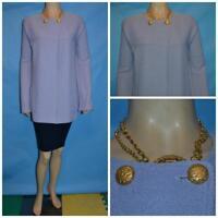 St. John Collection Knit Lavender Purple Suit Jacket XL L 12 14 Blazer Button