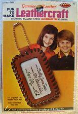 Arrow Leathercraft ID Luggage Tag Leather Craft Kit 1976 Sealed