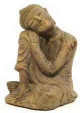Ruhender Buddha aus Steinguss Statue Feng Shui Thai Meditation Asien