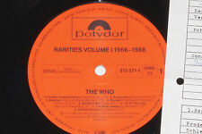 THE WHO -Rarities Volume 1966-1968- LP 1983 Polydor Archiv-Copy mint