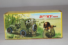 1960's Dinky #828 French Dinky Rocket Carrier Military Jeep Original Box
