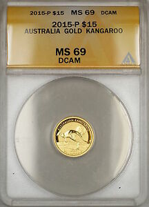 2015-P Australia Nugget $15 Gold Coin ANACS MS-69 DCAM *Nearly Perfect GEM*