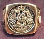 33rd Degree Scottish Rite Masonic Ring Size 13 1/4 Color Gold
