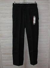 Bequem sitzende unifarbene Herrenhosen aus Polyester mit regular Länge
